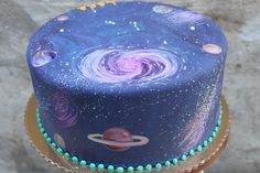 galaxy cake @Amy Lyons Michalski