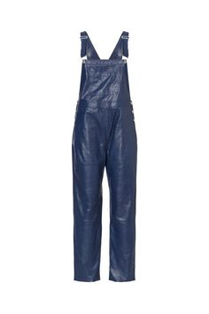 Ganni Passion leather Dungaree,
