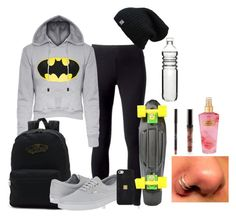 """""""skate park"""" by heyimvalee ❤ liked on Polyvore featuring Jockey, Vans, Hervé Léger, Victoria's Secret and Dot & Bo"""