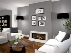 Find out why modern living room design is the way to go! A living room design to make any living room decor ideas be the brightest of them all. Living Room Grey, Small Living Rooms, Living Room Modern, Living Room Designs, Tiny Living, Living Room Wall Colours, Contemporary Living Room Decor Ideas, Living Room Accent Wall, Living Room Wall Ideas