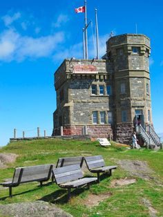 Located on the island of Newfoundland in the Atlantic Ocean, the city of St. John's is known for its vibrant culture and friendly locals. Newfoundland Canada, Newfoundland And Labrador, Vancouver, Alberta Canada, Calgary, Cabot Tower, Places To Travel, Places To See, Ottawa