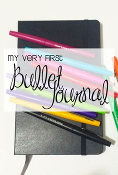 My very first bullet journal. Join me on my bullet journal journey! :)