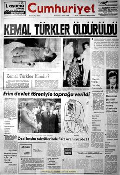 Cumhuriyet gazetesi 23 temmuz 1980
