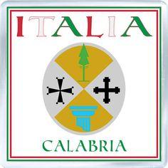 Acrylic Fridge Magnet: Italy. Coat of Arms of Calabria (Calabria)