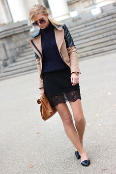 Navy, Camel, Brown and Black  jacket - Sheinside http://www.sheinside.com/Beige-Contrast-PU-Leather-Long-Sleeve-Zipper-Coat-p-101990-cat-1735.html , sunglasses- Choies http://www.choies.com/product/karenwalker-vintage-sunglasses-with-metal-arrow-in-floral