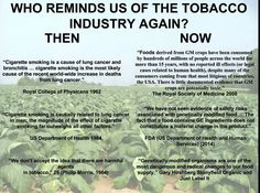 Blowing smoke: Annihilating fallacious comparisons of biotech scientists to tobacco company lobbyists. – The Credible Hulk