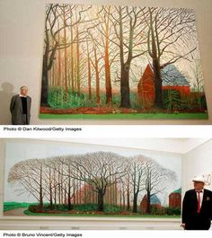 54 Famous Paintings Made by Famous Artists Photo Gallery of Famous Paintings by Famous Artists: Famous Paintings: Bigger Trees Near Warter by David Hockney Most Famous Paintings, Paintings I Love, Famous Artists, Oil Paintings, David Hockney Landscapes, David Hockney Art, Sistine Chapel Ceiling, Van Gogh Museum, Architecture Tattoo