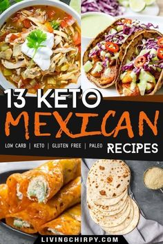 This is a short guide on keto Mexican food, what ingredients to avoid, and 13 keto Mexican recipes to add to your healthy low-carb recipe repertoire. recipes chicken recipes crockpot recipes easy recipes for dinner recipes healthy food recipes Keto Foods, Ketogenic Recipes, Diet Recipes, Ketogenic Diet, Freezer Recipes, Freezer Cooking, Shake Recipes, Keto Snacks, Cooking Tips