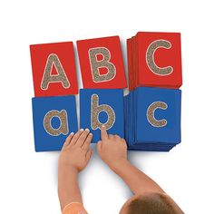 Tactile Letters - Lowercase - A super-engaging way to explore the alphabet right at kids fingertips! Our activity cards feature extra-big lowercase letters with a special textured surface. Children just trace each letter with their fingers to develop pre-writing skills and letter recognition, and master the strokes they will need to start printing.