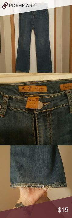 Seven 7 Jeans Seven 7 flare jeans size 8. They have some wear at the bottoms (pictured) Seven7 Jeans Flare & Wide Leg