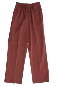 Alfred Dunner Rustic Charm Elastic Waist Twill Pants Rust 12P S Alfred Dunner. $27.99