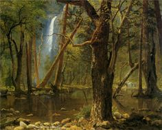 View in Yosemite Valley - Albert Bierstadt  This is where my ashes go.