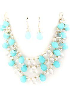 Turquoise Ella Necklace on Emma Stine Limited