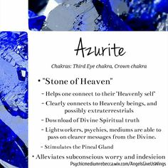 Azurite crystal meaning More