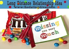 What a CUTE and easy gift idea for a loved one far away. From www.TheDatingDiva...