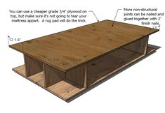 Build your own storage bed frame. This unique design maximizes storage - so you can store all the things! Use any headboard, or build your own as shown with our free rustic farmhouse headboard plans. Diy Storage Bed, Bed Frame With Storage, Toddler Twin Bed, Toddler Rooms, Girls Bedroom Furniture, Kid Furniture, Furniture Design, Plataform Bed