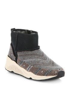 ASH Mohican Beaded Suede & Shearling Booties. #ash #shoes #boots