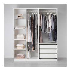 PAX Wardrobe, white, 68 Keep it simple. Ikea Wardrobe, Wardrobe Organisation, Wardrobe Design Bedroom, Bedroom Cupboard Designs, Bedroom Cupboards, Built In Wardrobe, Closet Bedroom, Bedroom Decor, Ikea Pax Closet
