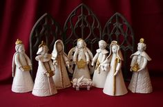 clay nativity by Donna Barton (set #1)