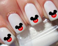 Disney Nail Decals – Set of 50 50 Disney Nail Decals by AMnails on Etsy - Nail Designs Nail Art Disney, Disney Acrylic Nails, Disney Nail Designs, Nail Art Designs, Nails Design, Disney Toe Nails, Disney Manicure, Disneyland Nails, Animal Nail Designs
