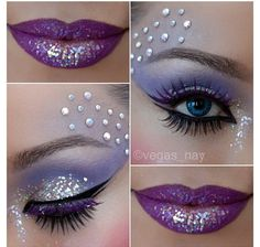 Halloween Fairy Makeup- can use pressed flower eyebrow with this sparkle and shine