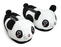 need these in my life, Gena! Along with the other thing I asked for for Christmas. My list grows. But they're PANDAS! If I can't have the killer bunny slippers, I need the pandas. Bear Slippers, Cute Slippers, Geek Chic Fashion, Nerd Gifts, Kawaii, My Boo, Girls Jewelry, Christmas Shopping, Me Too Shoes