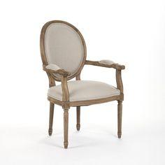 Medallion Arm Chair, Natural Oak