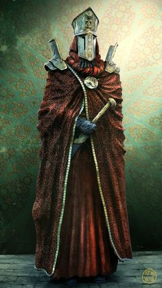 """Would serve well as a Priest of Terra within universe. Illustration by Ben Wanat. The original is called: """"Grand Precept Honor Guard"""" Dark Fantasy Art, Fantasy Armor, Medieval Fantasy, Fantasy Character Design, Character Concept, Character Inspiration, Character Art, Dnd Characters, Fantasy Characters"""