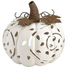 Porcelain Pumpkin Tealight Holder | Pier 1 Imports