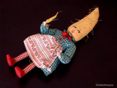 Vintage Anthropomorphic Carrot Doll with Poseable Arms