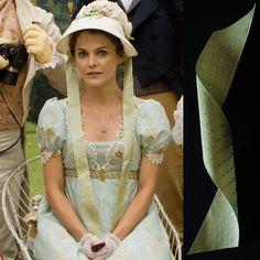 Austenland 2013, Jane Hayes (Keri Russell) wears bonnet trimmed with…