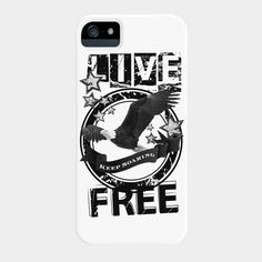 Check out this #cool #eagle #Iphone and #samsung #galaxy #cell #case #LIVE #FREE available exclusively on @designbyhumans . Get it here: http://www.designbyhumans.com/shop/phone-case/live-free/32525/ This cool design is also available as #tshirts #hoodies #tank #tops and #wall #prints. Grab yours today.  #tees #clothing #apparel #fashion #design #graphics #designbyhumans #case #eagle  #unique #dbh #dbhtees