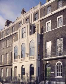 Sir John Soane's Museum, London  Facade of numbers 12 to 14 Lincolns Inn Fields, Number 14 was also built by Soane