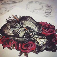 Working on plague doctor designs  for @ben_whiteraven  #art #artwork #blackdeath #berserktattoos #colourtattoo #doctortattoo #horrortattoo #instaart #inkjunkie #melbourne #melbourneart #macarbetattoo #melbournetattoo #neotrad #neotradsub #neotraditional #plague #plaguedoctor #plaguedoctortattoo #tattooart #tattoodesign #tattoomelbourne