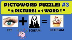 "PICTOWORD PUZZLES #3 || "" 2 PICTURES = 1 WORD ! "" || ROCKCLIMBERS ||2020 Riddle Puzzles, Fun Quizzes, Riddles, Words, Memes, Pictures, Photos, Meme"