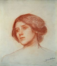 Head of a Girl, John William Waterhouse.