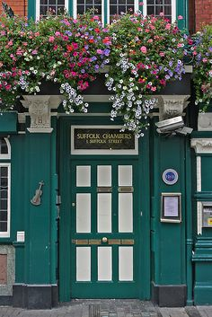 Ireland- beautiful flowers over doors