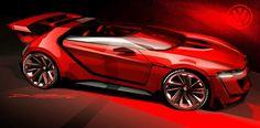 Volkswagen Vision GTI Roadster Concept Gran Turismo - Design Sketch by Domen Rucigaj