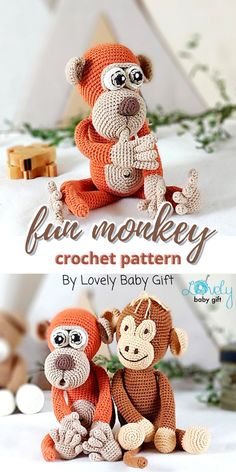 Crochet Patterns For Beginners, Crochet Basics, Crochet Patterns Amigurumi, Knitting Patterns, Crochet Eyes, Free Crochet, Sport Weight Yarn, Crochet For Boys, Safari Animals