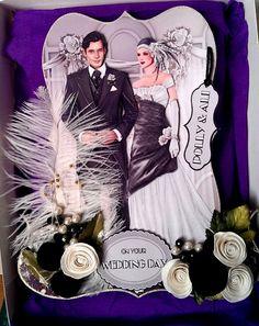 Art deco style wedding card