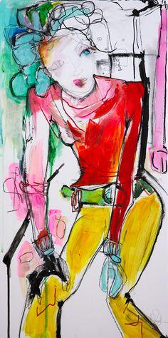Original oil painting by Liz Vaughn. Transforming The Warp, Original oil painting on birch panel, x Birch, Original Paintings, My Arts, Oil, The Originals, Anime, Cartoon Movies, Anime Music, Animation