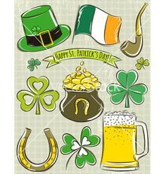 Design elements for st patricks day vector 4070790 - by sunnyfrog on VectorStock®