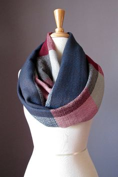 Oversized scarf infinity scarf  plaid scarf  by ScarfObsession