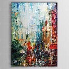 Ręcznie malowane Streszczenie Jeden panel Płótno Hang-Malowane obraz olejny For Dekoracja domowa 2017 - €92.11