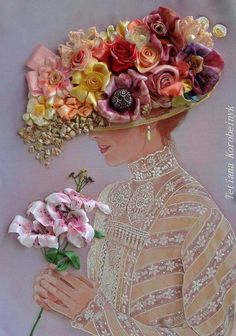 Wonderful Ribbon Embroidery Flowers by Hand Ideas. Enchanting Ribbon Embroidery Flowers by Hand Ideas. Rose Embroidery, Silk Ribbon Embroidery, Embroidery Stitches, Embroidery Patterns, Band Kunst, Ribbon Art, Creative Artwork, Jolie Photo, Paper Quilling