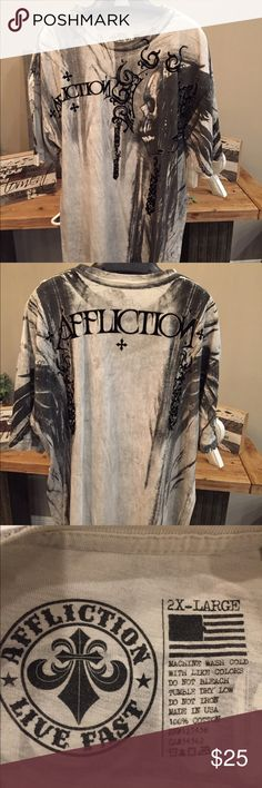 Affliction - Live Fast - 2XL T-Shirt Excellent Condition Affliction Shirts Tees - Short Sleeve
