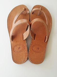 Leather Sandals Women Natural Handmade Leather by Leatherhood