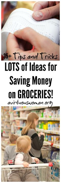 LOTS of ideas for saving money on groceries! save money on food frugal meal ideas, meal planning tips and budget recipes! Money Saving Meals, Save Money On Groceries, Ways To Save Money, Money Tips, How To Make Money, Budget Organization, Budgeting Money, Financial Tips, Saving Ideas