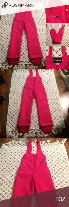 Vintage Hot pink 80s Aspen Snowsuit. Refer to pictures for description and measurements. By Aspen. Nylon and polyester. Tagged a Medium. However, go by my measurements. In great vintage condition. A few storage marks, lightly on leg and the bottom pant legs. Probably dust from floor hanging. Shown last pink. They are so light it was hard to capture. Definitely will come out. Please ask any questions before purchasing. Thank you 🔴Lowest $. No other offers! Posh takes 25% Vintage Other