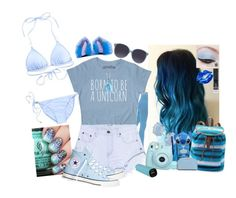 """happy bluest set ever // ♥"" by margiexbixdominicana ❤ liked on Polyvore featuring One Teaspoon, Melissa Odabash, Converse, Kendra Scott, River Island, Mudd, MICHAEL Michael Kors, Orlebar Brown and Manic Panic NYC"